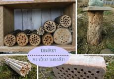 Hmyzí domečky III – komůrky pro včelky samotářky
